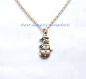Silver Snowman Necklace - Silver Snowman Jewellery - Christmas Necklace - Christmas Jewellery - Holiday Jewellery - Holiday Necklace