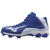 Mizuno 9-Spike Advanced Youth Franchise 8 Moulded Baseball Cleat - Mid - Royal/White 1