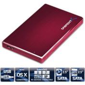 Sabrent Premium Ultra Slim 6.4cm SATA to USB 3.0 External Aluminium Hard Drive Enclosure Red