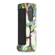 Fintie UE BOOM 2 / UE BOOM Case - Carrying Sleeve Cover w/ Removable Holding Strap + Carabiner Keychain Clip, Love Tree