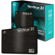Vantec NST-270A31-BK 6.4cm SATA 6GBps to USB 3.1 Gen II Type-A SSD or HDD Enclosure, Black