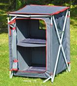 Crusader Three Shelf Foldable Quick Erect Camping Wardrobe