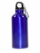 Bleu Bouteille De Boisson En Aluminium Avec Mousqueton Clip MÉtallique 400 Ml