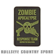 Kombat Airsoft Pvc Rubber Moral Patch Zombie Apocalypse Black Green
