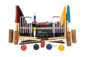 """Garden Croquet Set With Nylon Bag - Contains 2 Sizes Of Mallets, 2 X 34"""" And 2 X"""