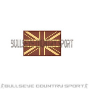 British Union Jack Patch Desert Tan Army Moral Patch Airsoft Cadet High Quality