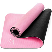 TPE Yoga Mat 181 x 61 x 0.6 cm (6mm Thick) – Textured, Non-Slip Eco Friendly Pilates Mat for Women and Men