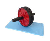 AFX Fitness Exercise Ab Wheel with Knee Pad Mat - Core Abdominal Workout