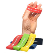 THE HAND BAND – hand exerciser and hand strengthener set - 10 finger resistance bands perfect for extensor training, forearm, hand and finger strength, hand health and injury rehabilitation