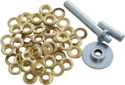 33pcs Tarpaulin Repair Kit With Grommets Punch Washers Rust Proof Outdoor Summer