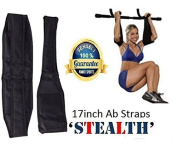 Ab Straps/Slings Shihan ABZ-ECLIPSE Standard AB-Crunch Sling AB Straps Weight Lifting Boxing Hanging Gym for Men/Women, AB Straps, Sling With Hook Hanging Ab Straps Padded Elbow Supports Chinning Bar Attachment 43cm Long Straps