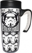Star Wars 01433 – 533 Ml Travel Mug, White And Black