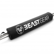 Barbell Pad by Beast Gear - Professional Standard Heavy Duty Weight Lifting Barbell Pad with Secure Hook and loop Fastener. For Shoulder, Neck, Back & Hip Protection During Squats & Hip Thrusts. For Olympic and Standard Barbells.
