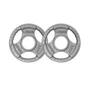 Body Power TRI-GRIP Cast Iron Olympic Discs - 1.25Kg