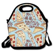 Ro Ro Ro Pizza Are All Food Container Cool Lunch Box Tote Bag Lunch Holder For Men Women Boys Girls Work Office School