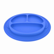 Heathybaby Silicone Mini Placemat + 2 Spoons - BPA Free - Improved Non-slip Suction - Baby Table Place Mat for Babies, Infants, Toddlers, Kids - Fit Most Highchair Trays