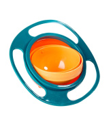 Hilarocky Non Spill Gyroscopic Bowl With Lid Food Grade PP Material Feeding Newborns Toddler Tableware BPA Free Kid Gyro Bowl 360 Rotating Baby Avoid Food Spilling For Children of All Age