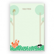 Woodland Animals Personalised Notepad