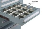 LYON NF24089D6 Drawer Divider,L 4-5/8,Drawer H 4-1/2 G1854286