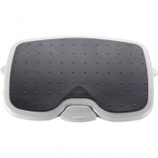 Kensington Solemate Plus Adjustable Footrest - Non-skid - 13cm Adjustment - 50cm x 36cm x 13cm - Platinum