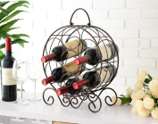 Copper Iron Transitional Counter Wine Rack Display Stand
