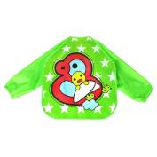 YJYdada Baby Infant Toddler Kids Boys Girls Long Sleeve Waterproof Sleeved Bib, Feeding Art Apron Bib Smock