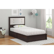 Cosco Willow Lake Twin Bed, Coffee House Plank and White