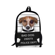 Showudesigns White Cheap Animal Bad Dog Backpack for Kids Casual Women Bag