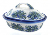 Polish Pottery Hyacinth Roaster with Lid
