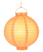 "30cm ""Budget Friendly"" Battery Operated LED Paper Lantern - Orange"