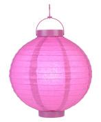 "30cm ""Budget Friendly"" Battery Operated LED Paper Lantern - Fuchsia"