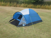 Kampa Brighton 3 Berth Camping Tent Ideal For Weekends Or Festivals Lagoon Blue