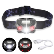 Livehitop Usb Rechargeable Led Headlamp, Super Bright Cree Led Head Torch Light