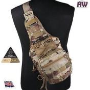Airsoft 1000d Utility Molle Tactical 3 Ways Shoulder Bag Pouch Backpack Multicam