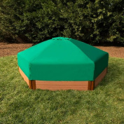 One Inch Series 2.1m x 2.4m x 28cm . Composite Hexagon Sandbox Kit with Collapsible Cover