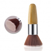 Rosette Multi-purpose Bamboo Flat Kabuki Makeup Brush for Foundation Powder Blush Brush and Mineral BB Cream