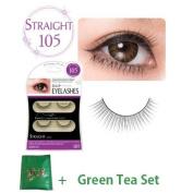 D.U.P False Eyelashes - Straight 105