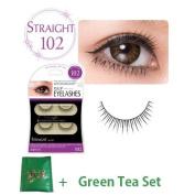 D.U.P False Eyelashes - Straight 102