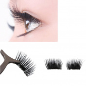 Ecosin Ultra-thin 0.2mm Magnetic Thick Eye Lashes 3D Reusable False Magnet Eyelashes