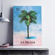 WeLoveCMYK 'La Palma Tree' Graphic Art Print on Canvas