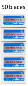 50 Israeli Personna Razor Blades - Double Edge Blades - Made in Israel - 60 years of qaulity tradition