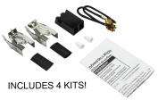 (4) Burner Receptacle Kit for Whirlpool Kenmore Range 330031