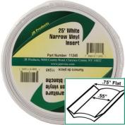 JR Products 11245 Standard White 1.9cm x 7.6m Narrow Vinyl Insert Trim