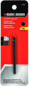 Black & Decker 16902 Glass and Tile Drill Bit, 1/4 in Dia x 2-1/4 in OAL, High Speed Steel