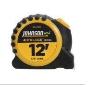 JOHNSON LEVEL & TOOL Auto-Lock Power Tape Measure, Rubberized Case, 1.6cm . x 3.7m
