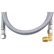 Certified Appliance Dw48ssbl Braided Stainless Steel Dishwasher Connector with Elbow, 1.2m