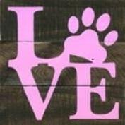 Love Paw garden flag