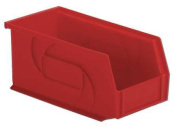 Lewisbins 14kg Capacity, Hang and Stack Bin, Red PB105-5 Red