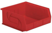 Lewisbins 18kg Capacity, Hang and Stack Bin, Red PB1011-5 Red