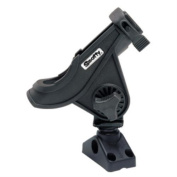 Scotty 34362 280 Bait Caster/Spinning Rod Holder w/241 Deck/Side Mount - Black